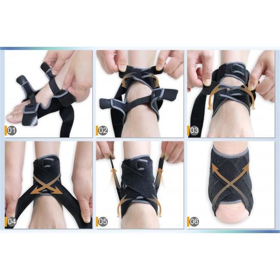 Adjustable Power Wrap Silicone Ankle Stabilizer - Állítható Power Wrap Szilikon Bokarögzítő