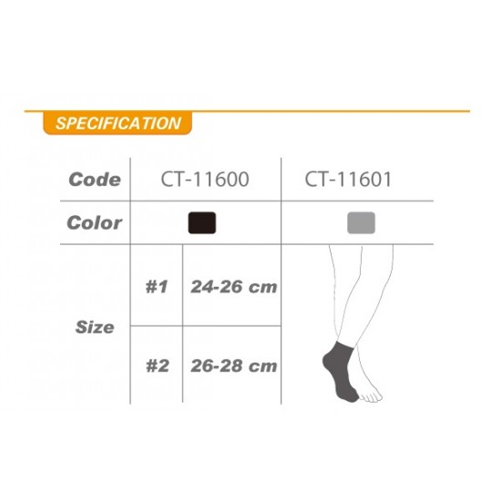 Compression Taping Arch Support Socks Cut (pair) - Kompressziós Szalagos Talpív Támogató Zokni Cut (pár)