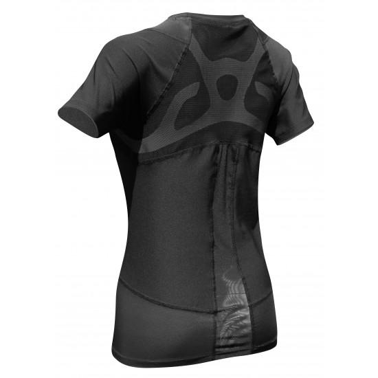 COOLMAX Compression Short Sleeve Black - Kompressziós Rövid ujjú Felső Fekete