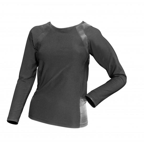 COOLMAX Compression Long Sleeve Black - Kompressziós Hosszú ujjú Felső Fekete