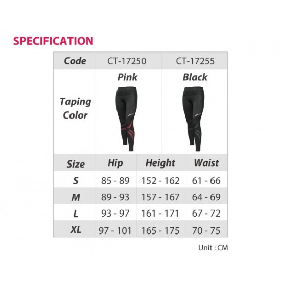 COOLMAX Compression Long Tight Black - Kompressziós Hosszú Nadrág Fekete