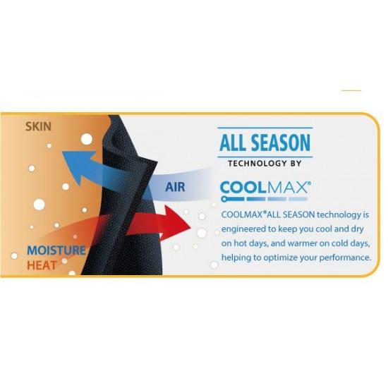 COOLMAX Compression Capri Tight Black - Kompressziós Háromnegyedes Nadrág Fekete