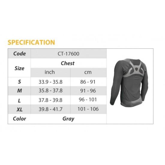 COOLMAX Compression Long Sleeve - Kompressziós Hosszú ujjú Felső Férfi