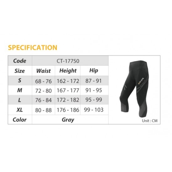 COOLMAX Compression Capri Tight - Kompressziós Háromnegyedes Nadrág