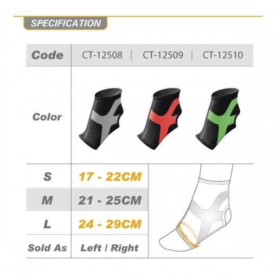 Ultrathin Compression Ankle Stabilizer Plus Grey - Ultravékony Kompressziós Boka Rögzítő Plus Szürke