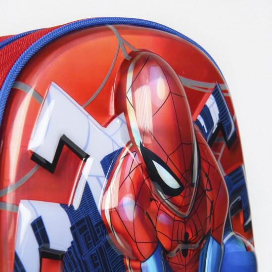 Spiderman 3D gurulós táska, metallic 31 cm