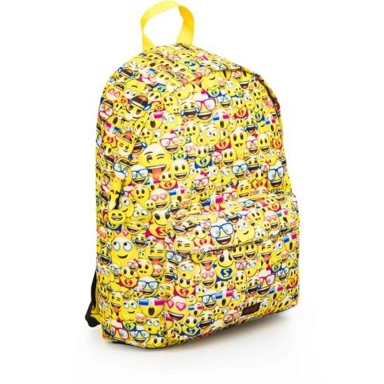 Emoji hátizsák és tolltartó 42 cm